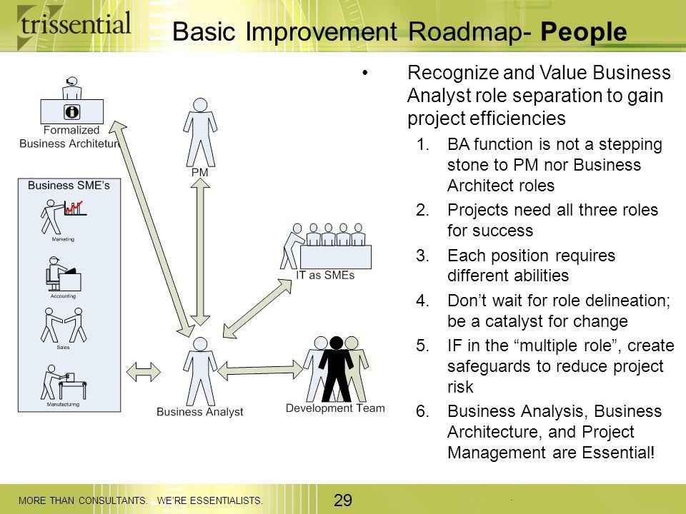 Basic Improvement Roadmap- People