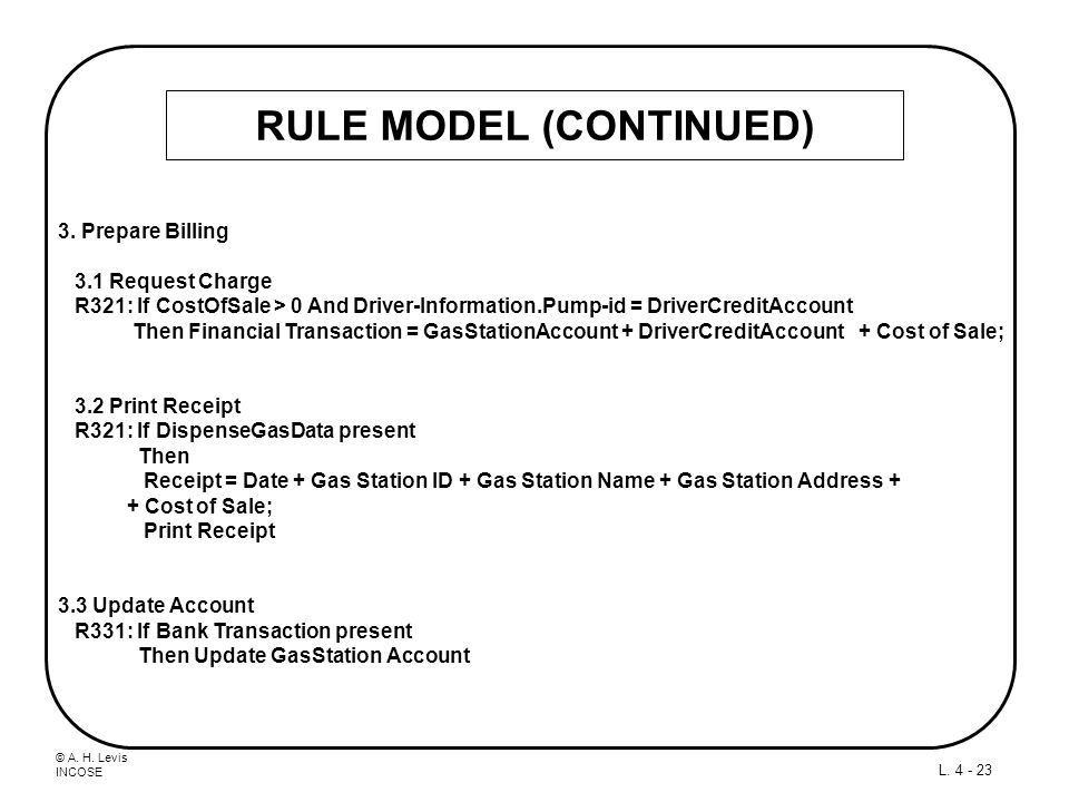 RULE MODEL (CONTINUED)