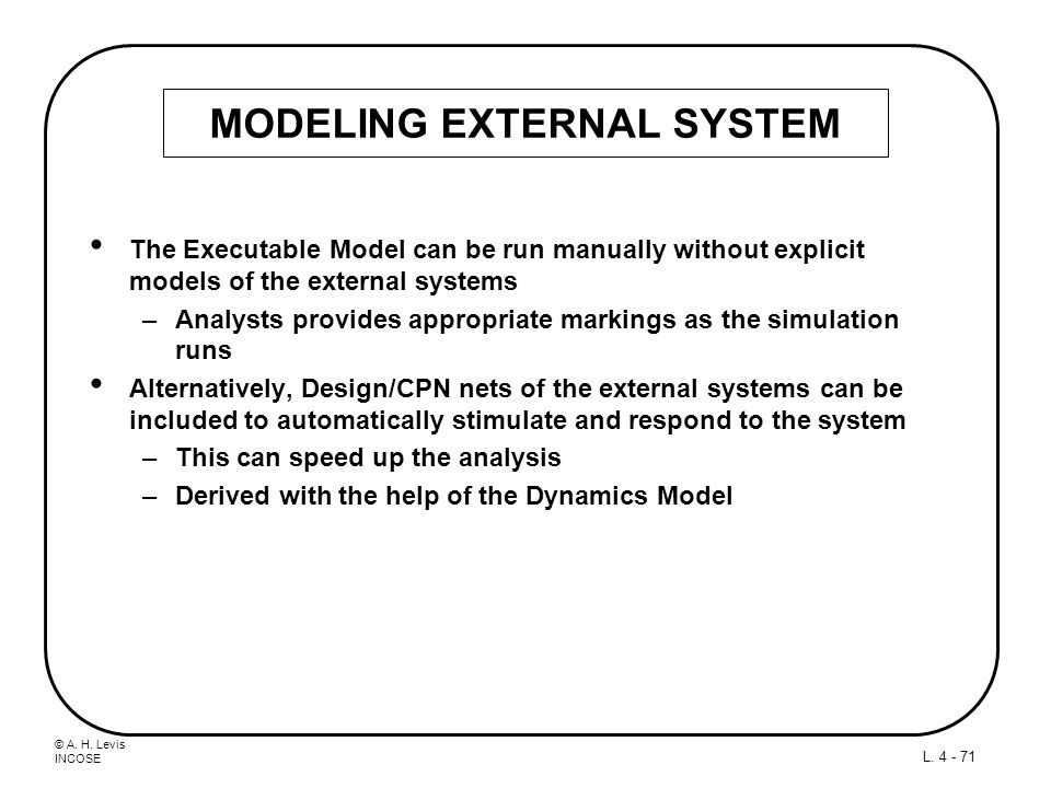 MODELING EXTERNAL SYSTEM