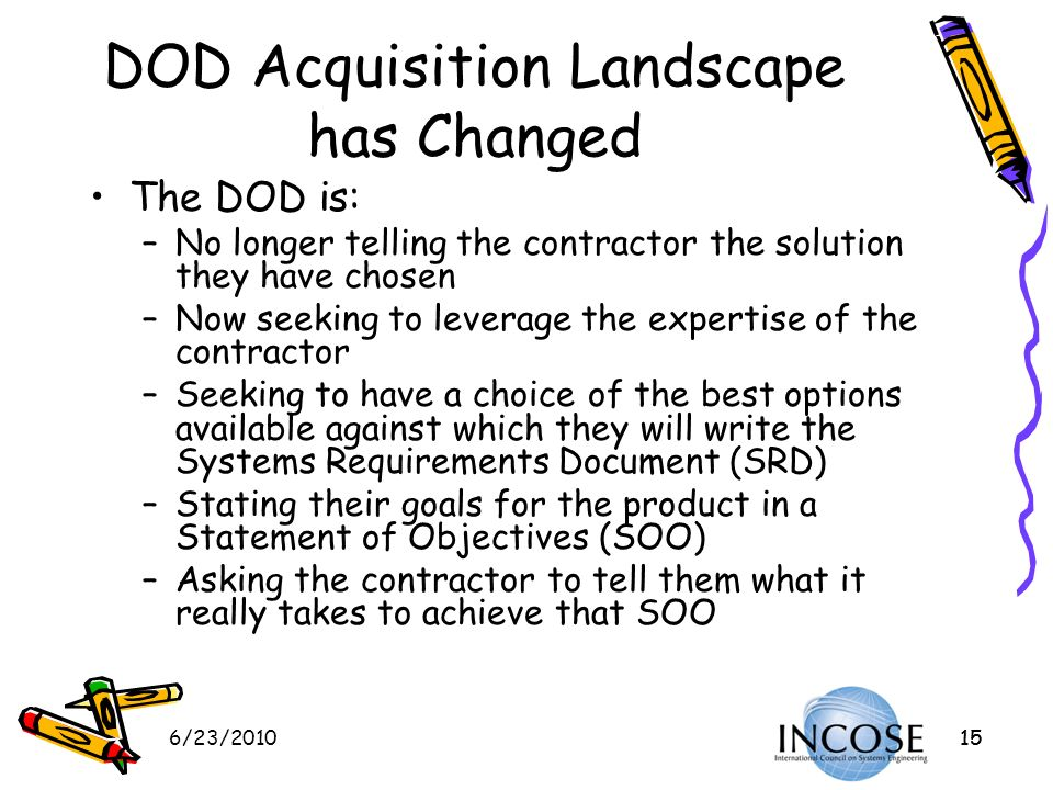 DOD Acquisition Landscape has Changed