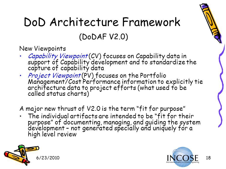 DoD Architecture Framework (DoDAF V2.0)