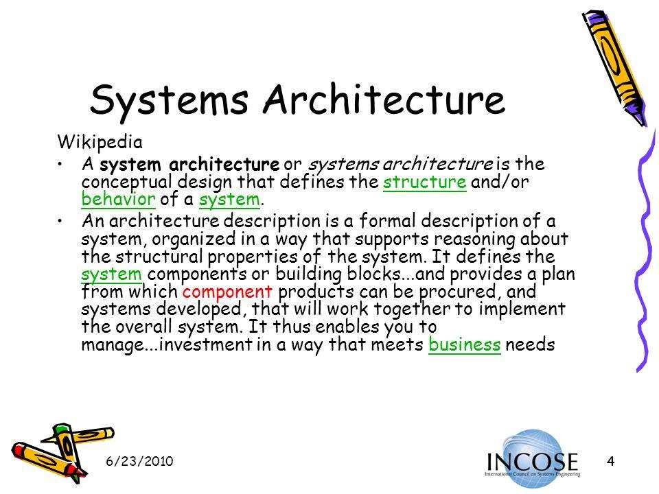 Systems Architecture Wikipedia