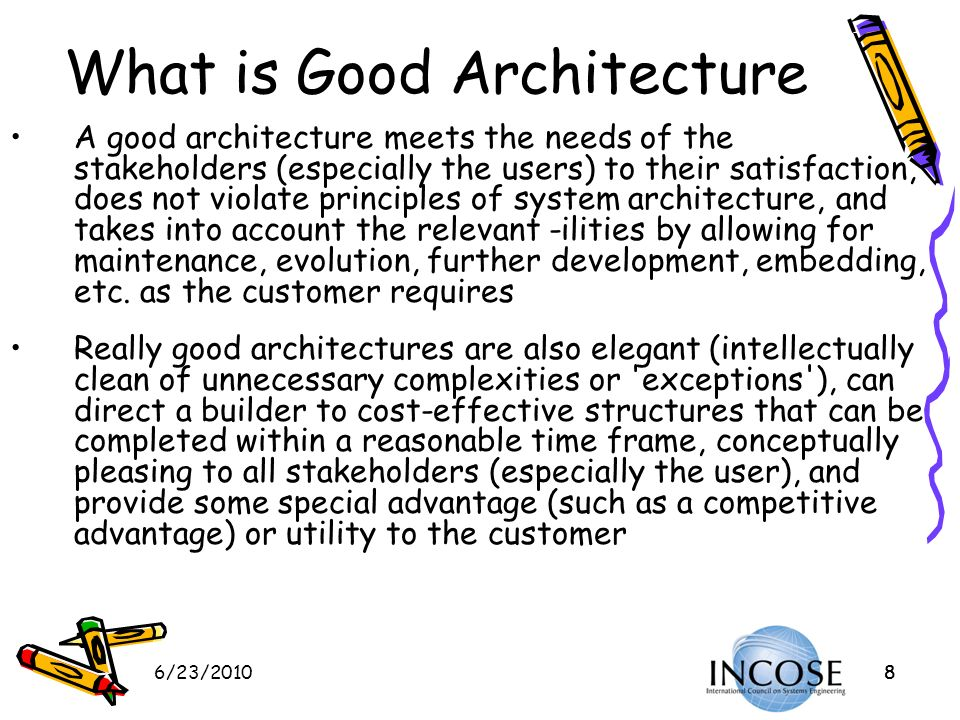 What is Good Architecture