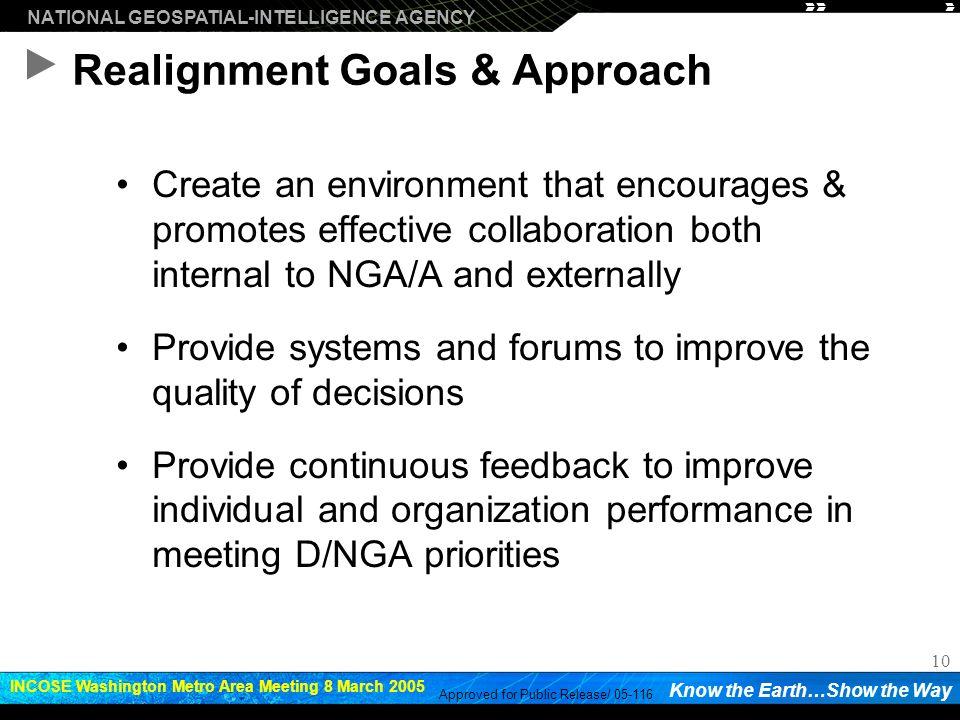 Realignment Goals & Approach