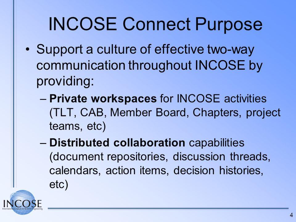 INCOSE Connect Purpose