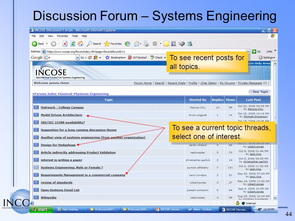 Discussion Forum – Systems Engineering