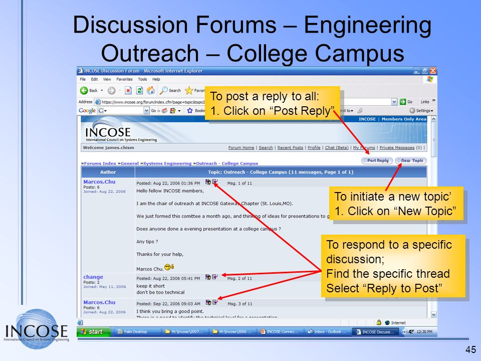 Discussion Forums – Engineering Outreach – College Campus