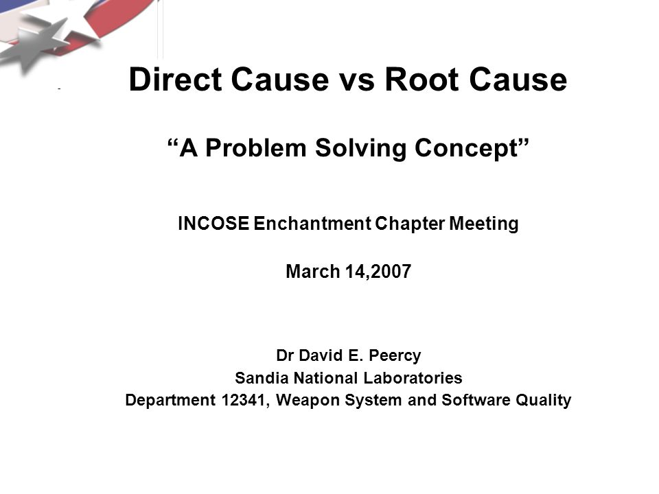 Direct Cause vs Root Cause