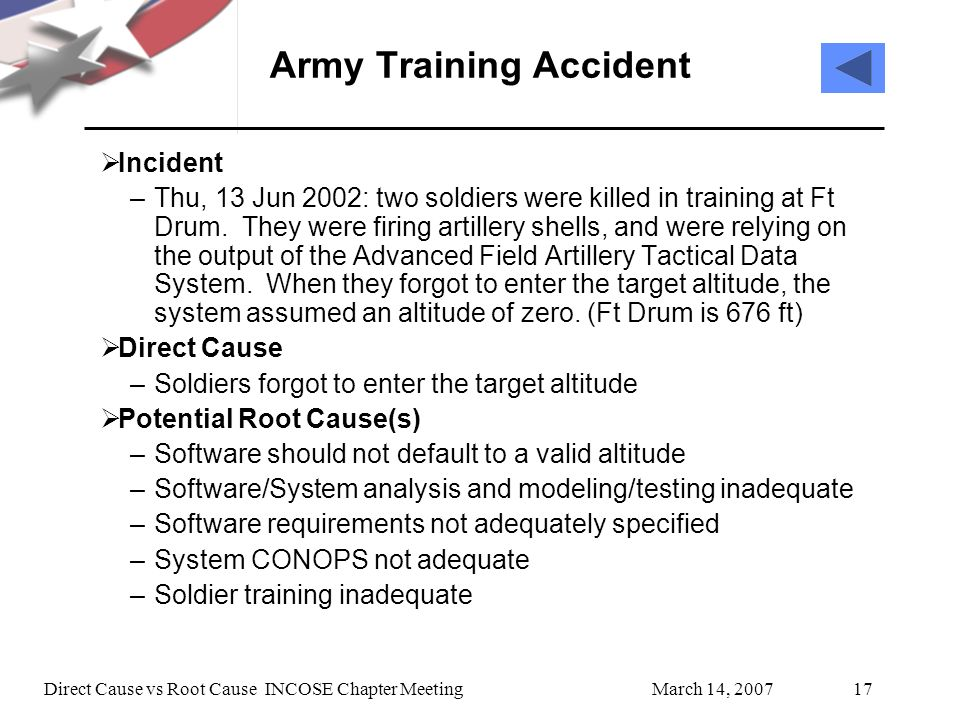 Army Training Accident