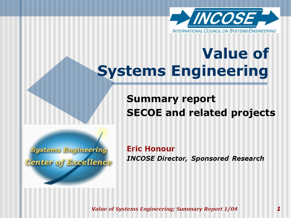 Value of Systems Engineering