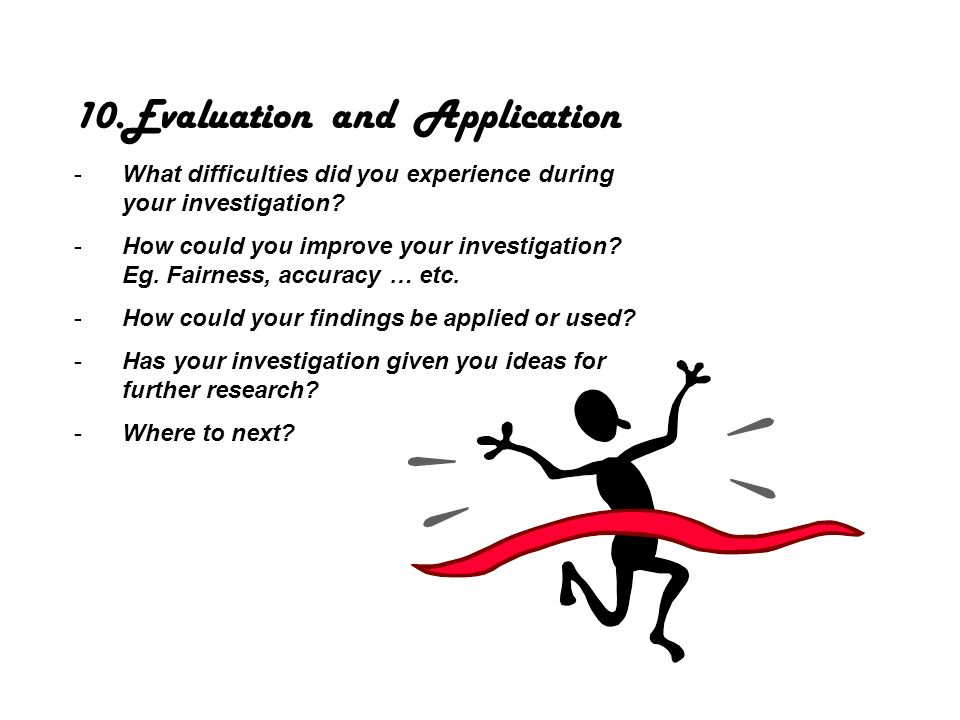 Evaluation and Application