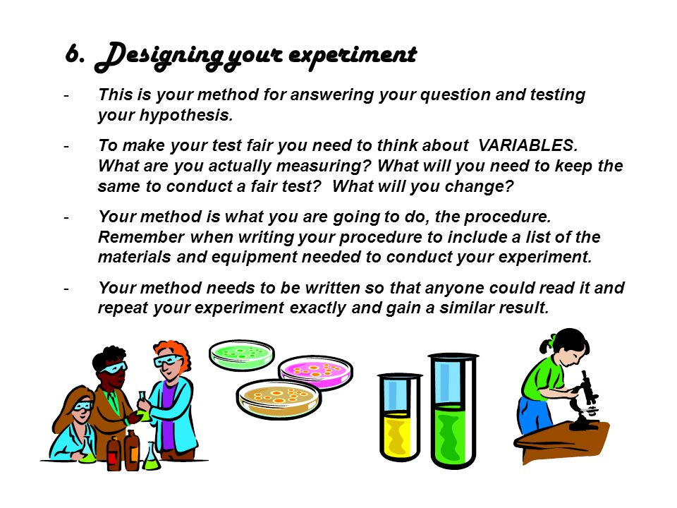 Designing your experiment