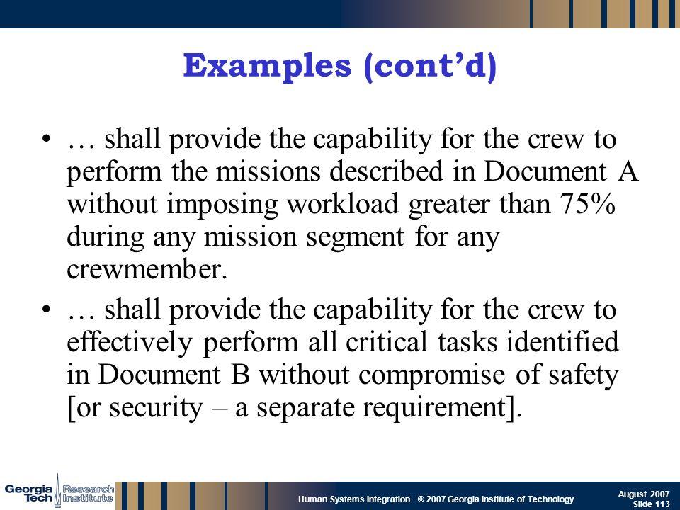 Examples (cont'd)
