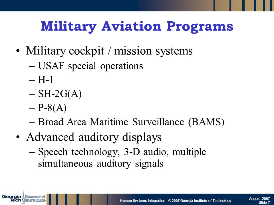 Military Aviation Programs