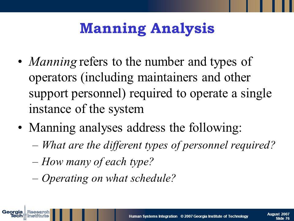 Manning Analysis