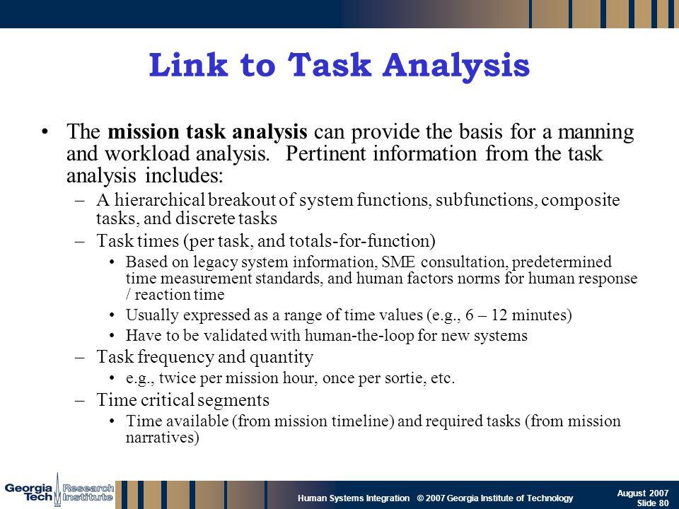 Link to Task Analysis