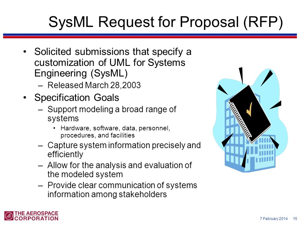 SysML Request for Proposal (RFP)
