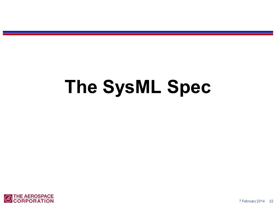 The SysML Spec