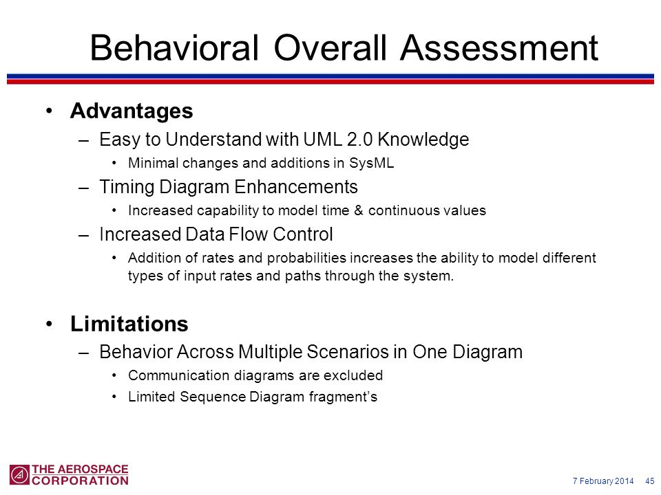 Behavioral Overall Assessment