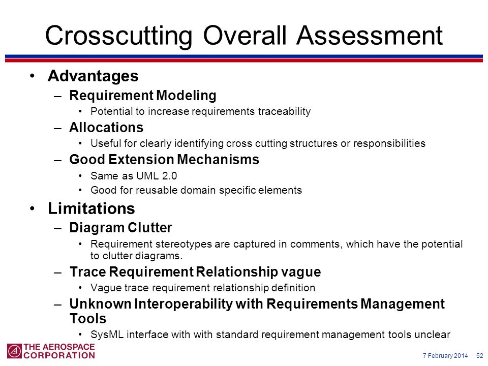 Crosscutting Overall Assessment