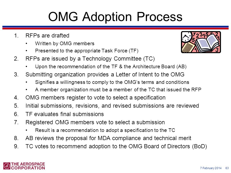 OMG Adoption Process RFPs are drafted