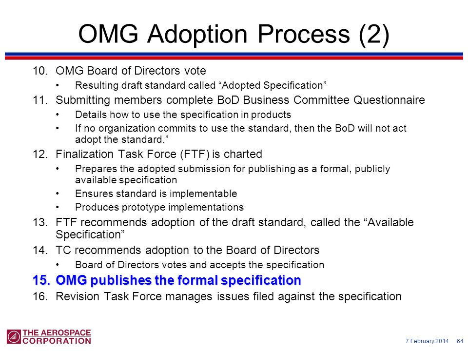 OMG Adoption Process (2)