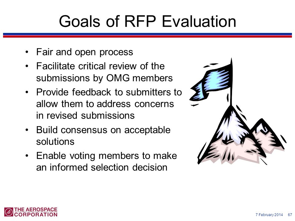 Goals of RFP Evaluation