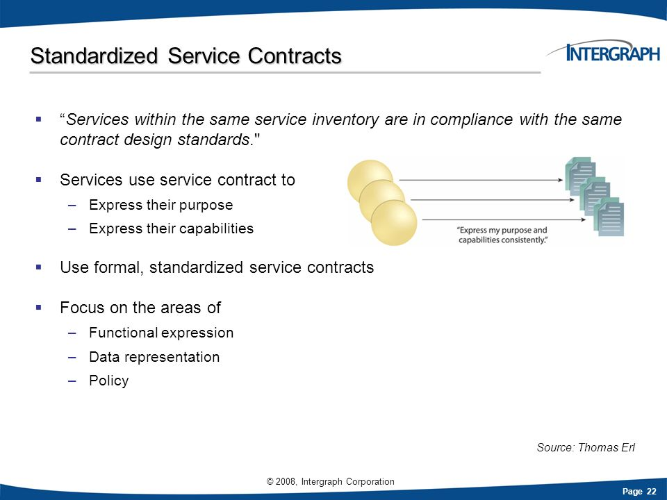 Standardized Service Contracts