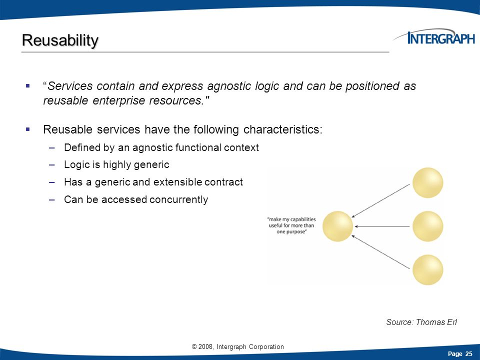 Reusability Services contain and express agnostic logic and can be positioned as reusable enterprise resources.