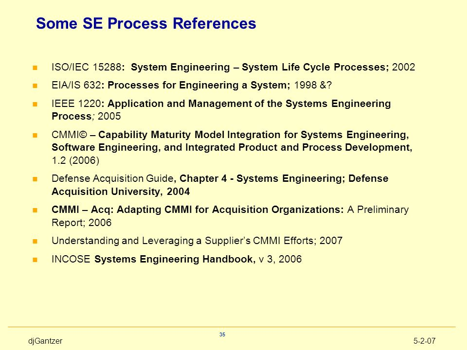 Some SE Process References