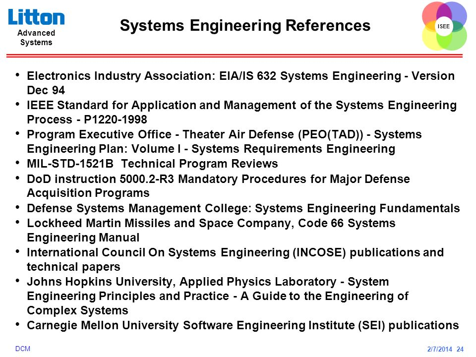 Systems Engineering References