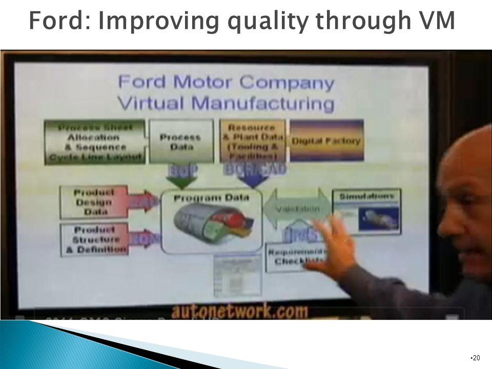 Ford: Improving quality through VM