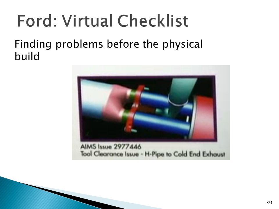 Ford: Virtual Checklist