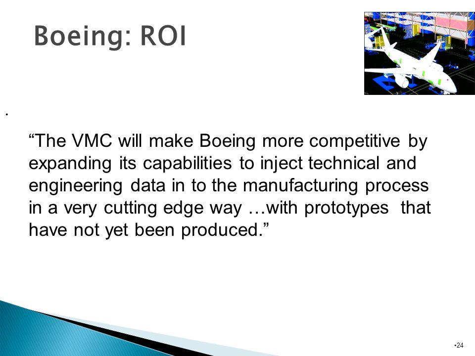 Boeing: ROI.