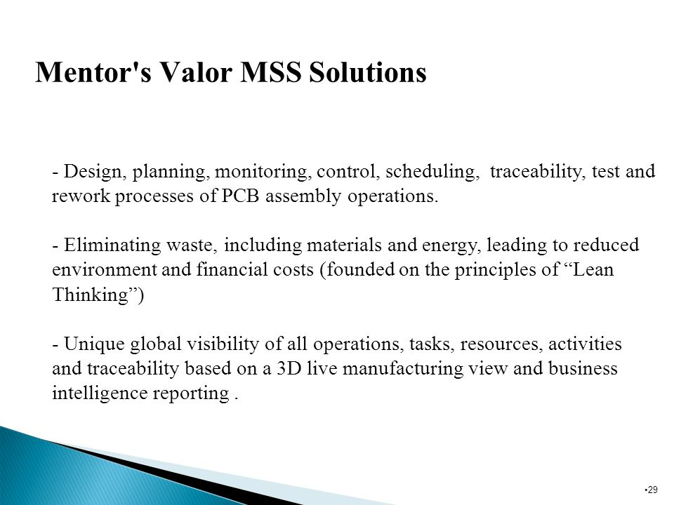 Mentor s Valor MSS Solutions
