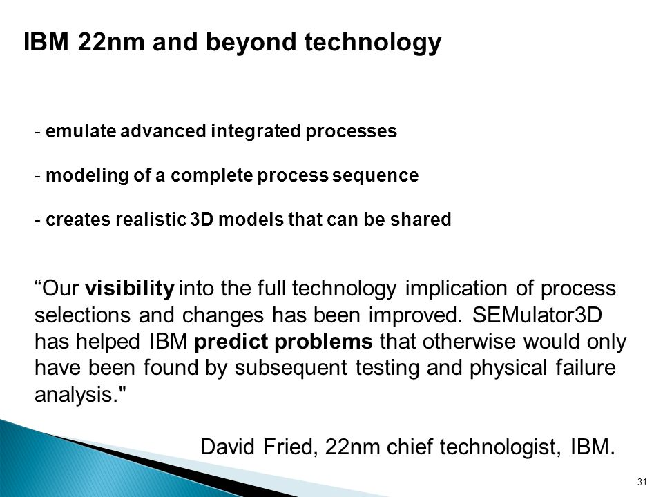 IBM 22nm and beyond technology