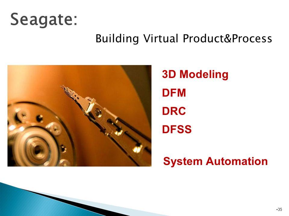 Seagate: Building Virtual Product&Process 3D Modeling DFM DRC DFSS