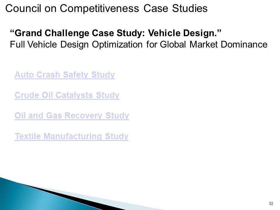 Grand Challenge Case Study: Vehicle Design.