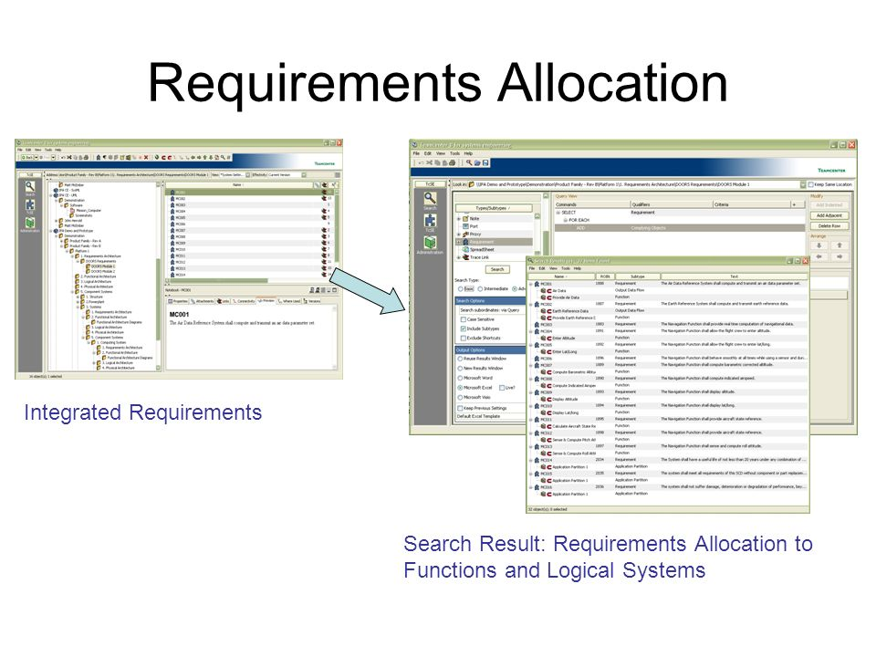 Requirements Allocation