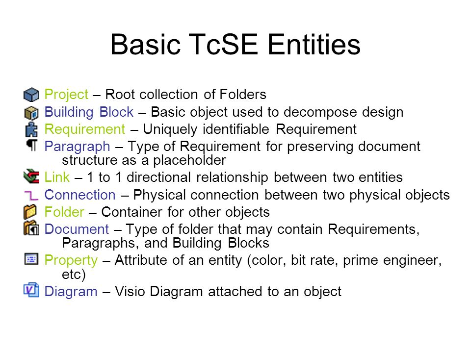 Basic TcSE Entities Project – Root collection of Folders