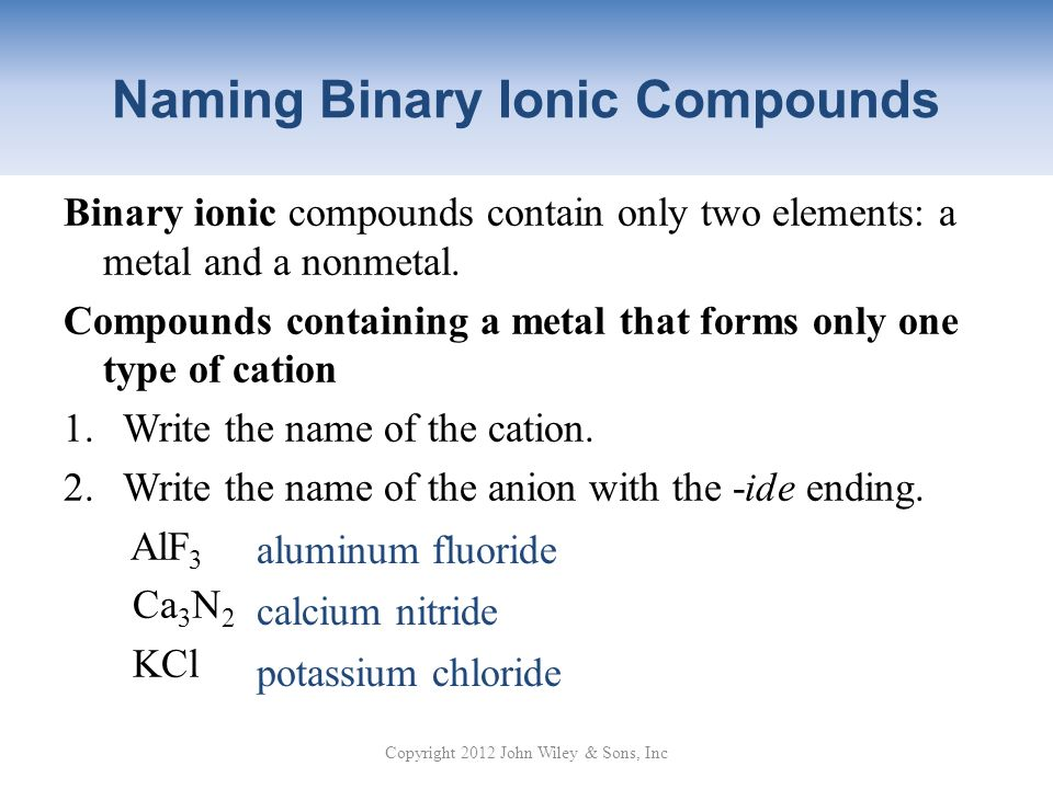 Nomenclature of Inorganic Compounds - ppt video online download