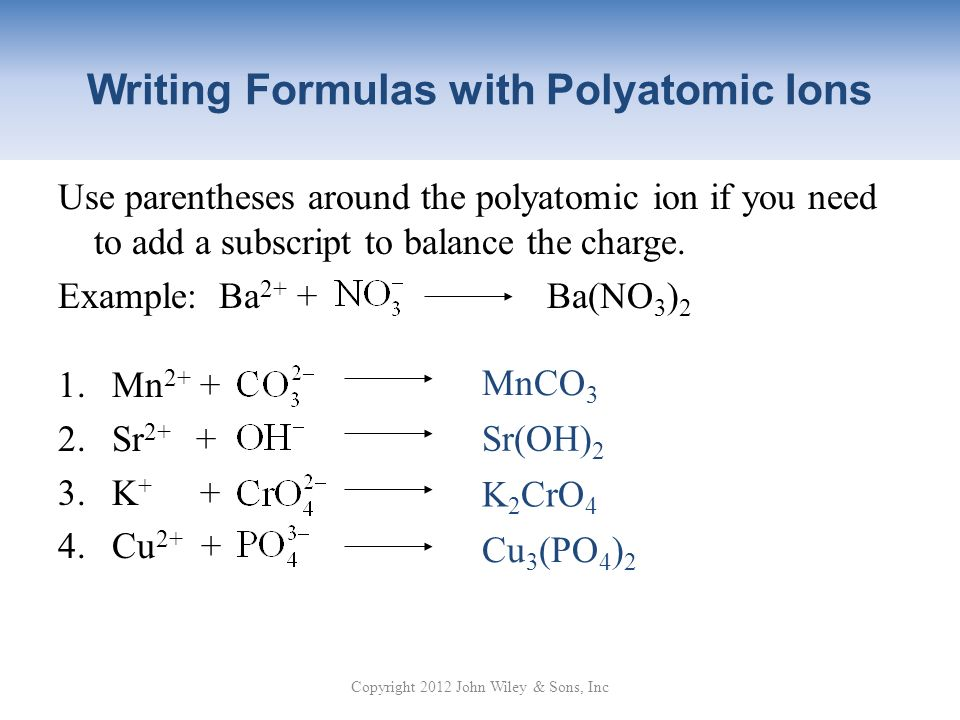 What Substances Contain Polyatomic Ions?