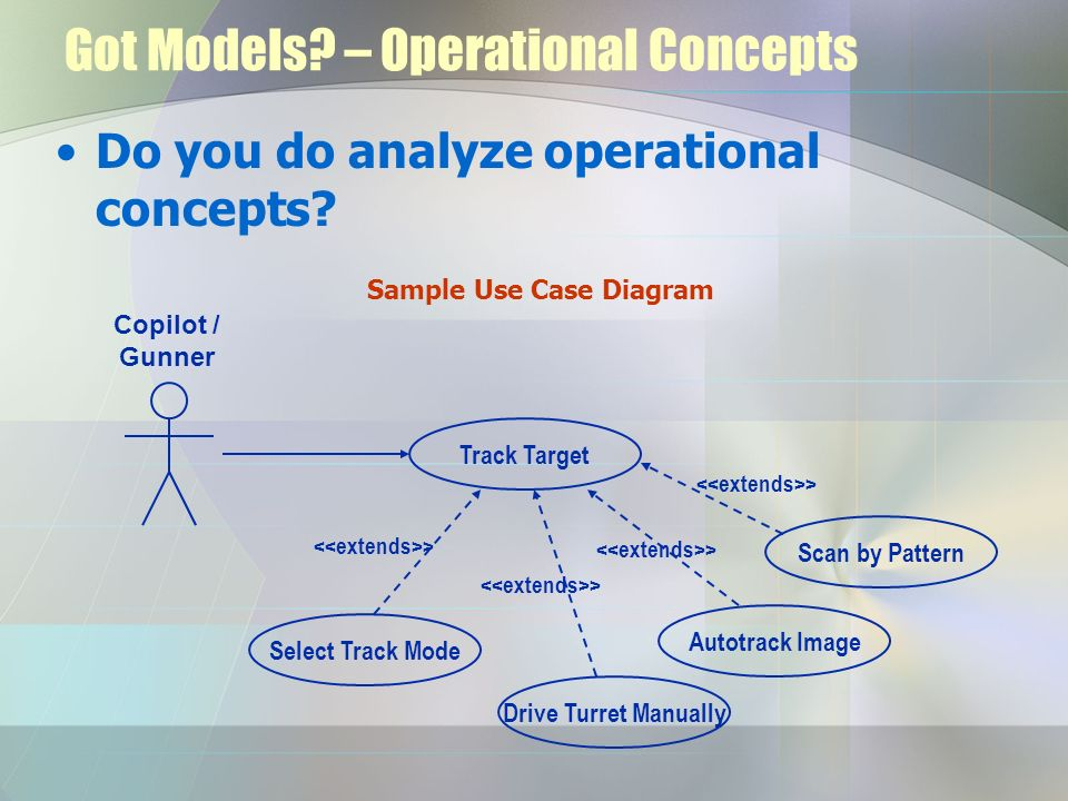 Got Models – Operational Concepts