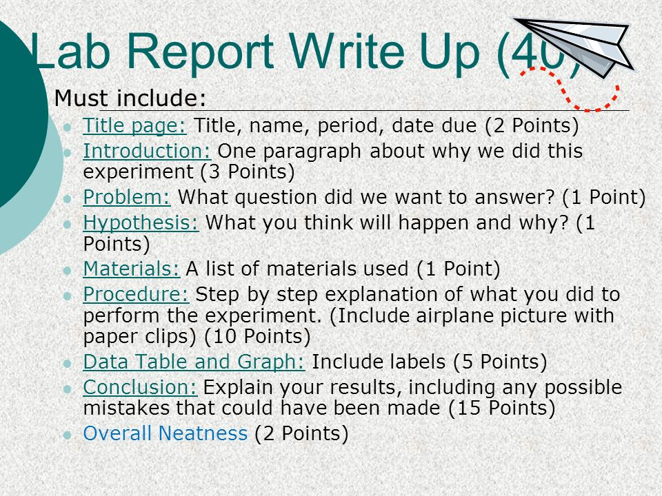Write my writing an experiment report