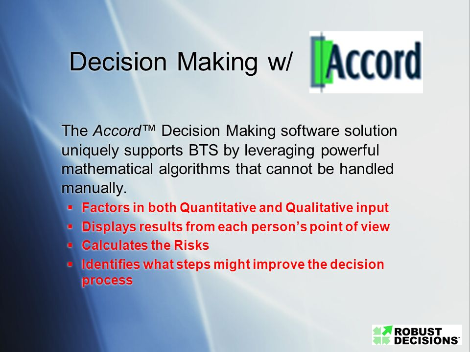 Decision Making w/