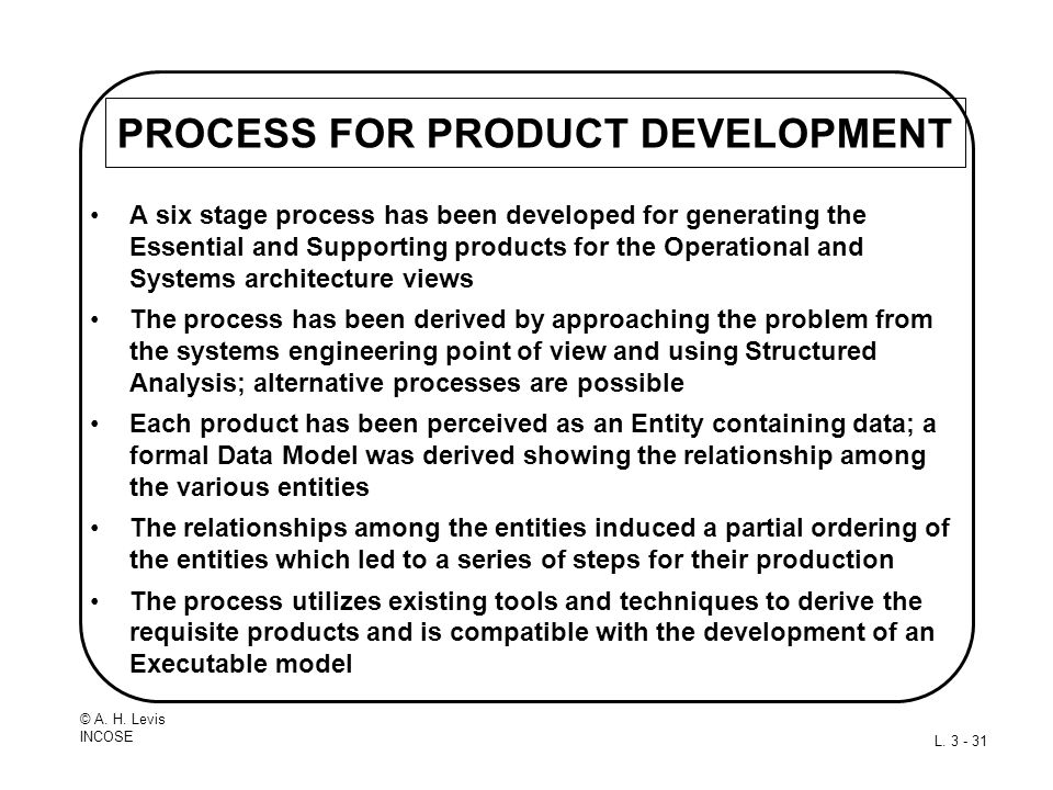 PROCESS FOR PRODUCT DEVELOPMENT