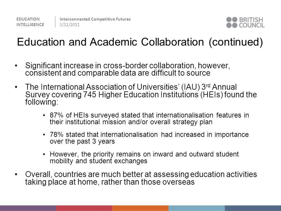 Education and Academic Collaboration (continued)