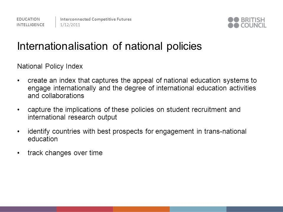 Internationalisation of national policies
