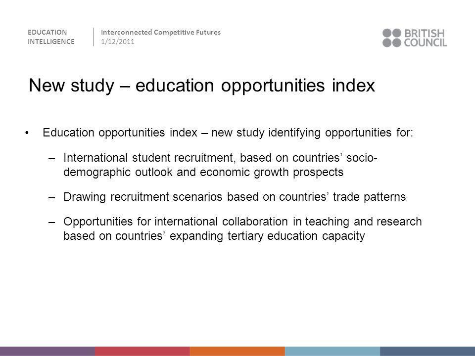 New study – education opportunities index