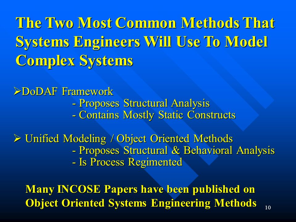 The Two Most Common Methods That Systems Engineers Will Use To Model Complex Systems